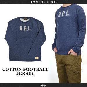 RRL (ダブルアールエル) Ralph Lauren ラルフローレン COTTON FOOTBALL JERSEY フットボール ジャージ フットボールシャツ 長袖 Tシャツ カットソー メンズ|buddy-stl