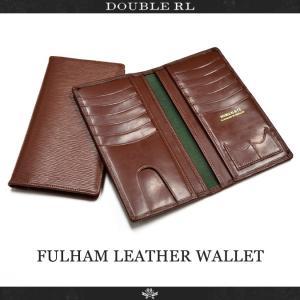 RRL (ダブルアールエル) Ralph Lauren ラルフローレン FULHAM LEATHER WALLET レザーウォレット 長財布 イギリス製 メンズ|buddy-stl