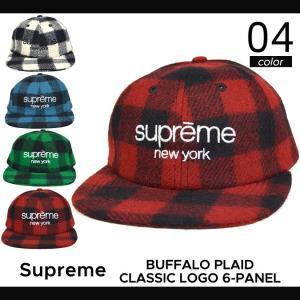 Supreme(シュプリーム) BUFFALO PLAID CLASSIC LOGO 6-PANEL CAP キャップ 6パネルキャップ メンズ レディース ストリート スケート 帽子 SUPREME