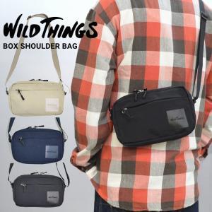 WILD THINGS ワイルドシングス BOX SHOULDER BAG ナイロン サコッシュ バ...