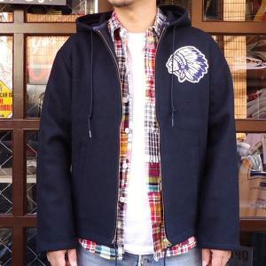 チャンピオン Champion BUDDY 別注 オールメルトン インディアン ジップジャケット コーチジャケット アメカジ|buddy-us-clothing