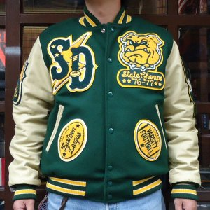 TM ATHLETICS BUDDY 別注 アワードジャケット (SAN DIEGO BULLDOGS) ティーエムアスレチックス|buddy-us-clothing