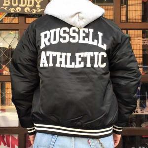 ラッセルアスレチック RUSSELL ATHLETIC ベースボール スタジアムジャケット・ブラック