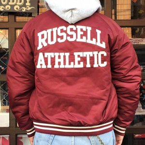 ラッセルアスレチック RUSSELL ATHLETIC ベースボール スタジアムジャケット マルーン
