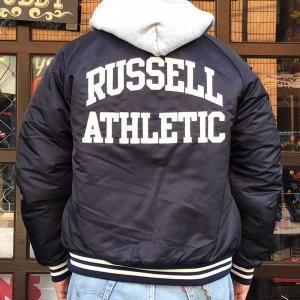 ラッセルアスレチック RUSSELL ATHLETIC ベースボール スタジアムジャケット ネイビー