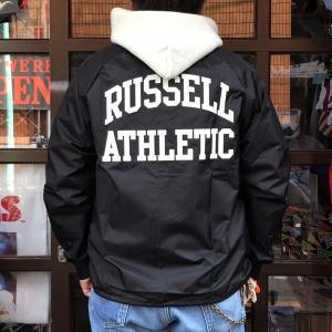 ラッセルアスレチック RUSSELL ATHLETIC コーチジャケット COACH JACKET ブラック