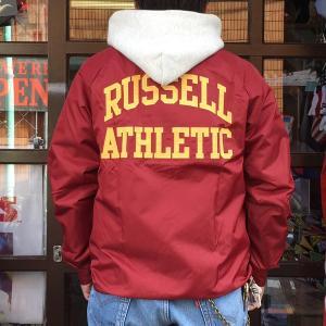 ラッセルアスレチック RUSSELL ATHLETIC コーチジャケット COACH JACKET マルーン
