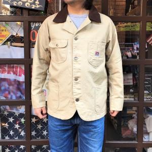 BEN DAVIS ベンデイビス ヘヴィーオックス カバーオール メンズ レディース アウター アメカジ HEAVY OX CORDUROY COLLAR COVER ALL ベージュ|buddy-us-clothing