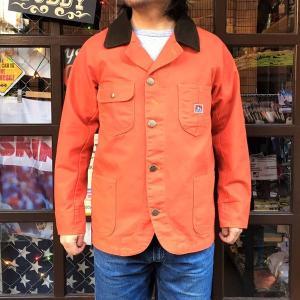 BEN DAVIS ベンデイビス ヘヴィーオックス カバーオール メンズ レディース アウター アメカジ HEAVY OX CORDUROY COLLAR COVER ALL オレンジ|buddy-us-clothing