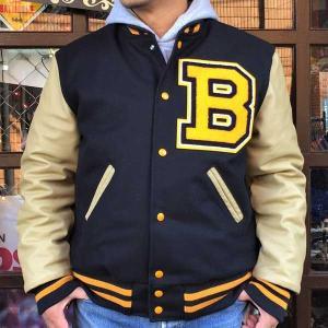スタジャン アワードジャケット HOLLOWAY VARSITY JACKET BUDDY オリジナル シュニール付き アメカジ バーシティジャケット シニール ワッペン パッチ|buddy-us-clothing