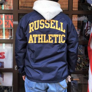 ラッセルアスレチック RUSSELL ATHLETIC コーチジャケット COACH JACKET ネイビー