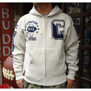 BUDDY別注 Champion リバースウィーブ フルジップパーカー(BUSTERS)|buddy-us-clothing