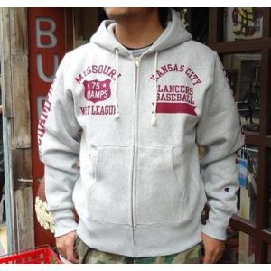 チャンピオン Champion BUDDY 別注 リバースウィーブ フルジップパーカー(KC LANCERS) アメカジ トレーナー|buddy-us-clothing