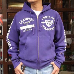 チャンピオン Champion BUDDY別注 リバースウィーブ フルジップパーカー(TOMAHAWKS)トレーナー アメカジ|buddy-us-clothing