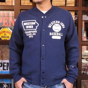 チャンピオン Champion BUDDY別注 リバースウィーブ フルスナップスウェット(FIGHTING DOGS)/青タグ スウェットパーカー 裏起毛 アメカジ C3-J003|buddy-us-clothing