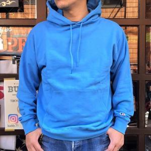 ラッセルアスレチック RUSSELL ATHLETIC Bookstore Sweat Pullover Hoodie -Japan Exclusive Fit- OLDBLUE アメカジ スウェットパーカー フーディー ブルー|buddy-us-clothing