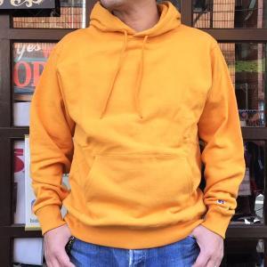ラッセルアスレチック RUSSELL ATHLETIC Bookstore Sweat Pullover Hoodie -Japan Exclusive Fit- OLDGOLD アメカジ スウェットパーカー フーディー イエロー|buddy-us-clothing