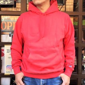 ラッセルアスレチック RUSSELL ATHLETIC Bookstore Sweat Pullover Hoodie -Japan Exclusive Fit- OLDRED アメカジ スウェットパーカー フーディー レッド|buddy-us-clothing
