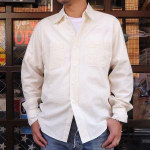 ★SPRINGFORD★シャンブレーシャツ(オフホワイト)/アメカジ メンズ 長袖 ワ ークシャツ CHAMBRAY SHIRTS