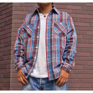 ★SPRINGFORD★ヘビーネルシャツ #3(ブルー) buddy-us-clothing