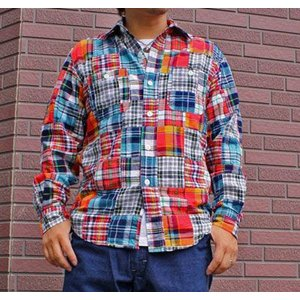 ★SPRINGFORD★パッチワークシャツ #1 buddy-us-clothing