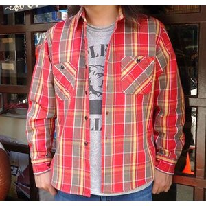 ★SPRINGFORD★ヘビーネルシャツ #4 (レッド)
