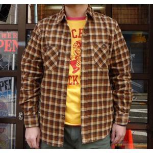 コーデュロイシャツ SPRINGFORD BUDDYオリジナル ブラウンチェック コーデュロイシャツ アメカジ メンズ 長袖 buddy-us-clothing