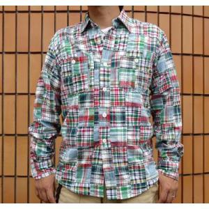 パッチワークシャツ BUDDY オリジナル SPRINGFORD アメカジ メンズ 長袖 PATCH WORK SHIRTS buddy-us-clothing