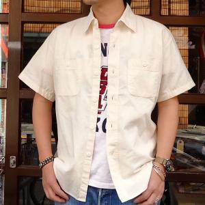 シャンブレーシャツ オフホワイト 半袖 BUDDYオリジナル SPRINGFORD アメカジ メンズ ワークシャツ SHORT SLEEVES CHAMBRAY SHIRT buddy-us-clothing