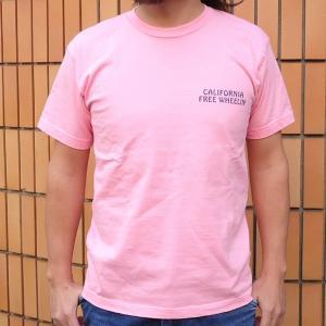 BUDDY 別注 PEANUTS スヌーピーTシャツ(CALIFORNIA FREE WHEELIN')PINK SNOOPY ピーナッツ スケボー サーフィン  ピンク SCHULZ 70's