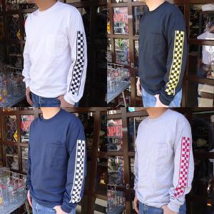 BUDDY オリジナル ロングスリーブTシャツ CHECKER チェッカー GILDAN ロンT イ...