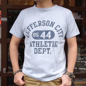 チャンピオン Champion ロチェスター ヘザーTシャツ(JEFFERSON CITY ATHLETIC DEPT.) BUDDY 別注 17SS Rochester (C3-K317) 霜降り アメカジ ヘザーブルー|buddy-us-clothing