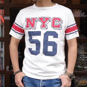 チャンピオン Champion ロチェスター フットボール ラインTシャツ(NYC 56) BUDDY 別注 17SS Rochester (C3-K311) アメカジ オフホワイト ニューヨーク|buddy-us-clothing