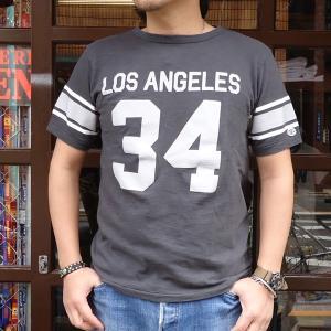 チャンピオン Champion ロチェスター フットボール ラインTシャツ(LOS ANGELS) BUDDY 別注 17SS Rochester (C3-K311) アメカジ ブラック|buddy-us-clothing
