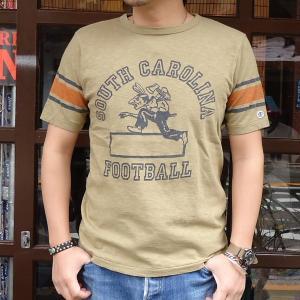 チャンピオン Champion ロチェスター フットボール ラインTシャツ(SOUTH CAROLINA)BUDDY 別注 17SS Rochester (C3-K311) アメカジ ベージュ buddy-us-clothing