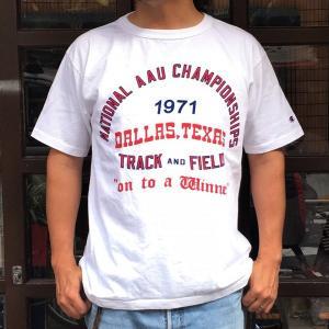 チャンピオン T1011 Tシャツ Champion MADE IN U.S.A. BUDDY 別注 1971 DALLAS TEXAS TRACK AND FIELD アメリカ製 ティーテンイレブン ベースボール|buddy-us-clothing