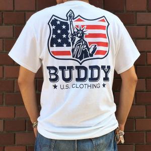 BUDDYオリジナル Indian & Statue of Liberty Tシャツ アメカジ インディアン 自由の女神 ニューヨーク GILDAN|buddy-us-clothing