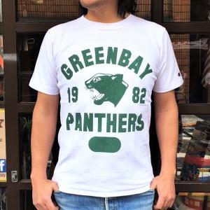 チャンピオン リバースウィーブ Tシャツ 18SS BUDDY 別注 Champion REVERSE WEAVE Tシャツ C3-X301 白 WHITE 半袖 1982 GREEN BAY PANTHERS|buddy-us-clothing