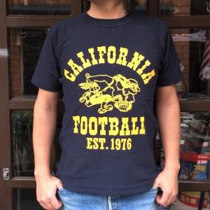 チャンピオン リバースウィーブ Tシャツ 18SS BUDDY 別注 Champion REVERSE WEAVE Tシャツ C3-X301 ネイビー NAVY 半袖 1976 CALIFORNIA FOOTBALL|buddy-us-clothing
