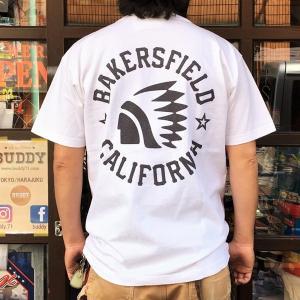 別注 チャンピオン Champion アメリカ製 白 Tシャツ T1011 MADE IN U.S.A. Tシャツ BUDDY別注 BAKERSFIELD INDIANS ティーテンイレブン WHITE ホワイト アメカジ|buddy-us-clothing