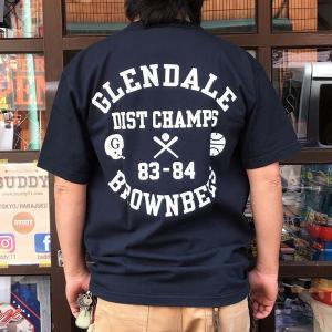 別注 チャンピオン Champion アメリカ製 Tシャツ T1011 MADE IN U.S.A. Tシャツ BUDDY別注 GLENDALE BROWNBEES ティーテンイレブン NAVY ネイビー アメカジ|buddy-us-clothing