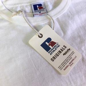 無地 Tシャツ ポケット付き ラッセル アスレチック RUSSELL ATHLETIC BUDDY 別注 白 ホワイト アメカジ Plain T-sh メンズ 半袖|buddy-us-clothing