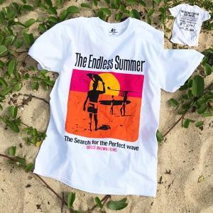 エンドレスサマー BUDDY 別注 オリジナル コラボTシャツ BRUCE BROWN FILMS The Endless Summer ブルース ブラウン SURFIN サーフィン|buddy-us-clothing