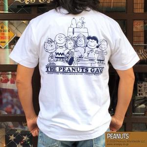 別注 スヌーピーTシャツ PEANUTS THE PEANUTS GANG WHITE BUDDY 別注 SNOOPY ピーナッツ ギャング オールスターズ ホワイト 70's SCHULZ 白|buddy-us-clothing