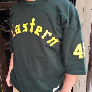 フットボールシャツ BUDDY オリジナル ハーフスリーブ Eastern 46 フットボールTシャツ  半袖 ロゴTシャツ アメカジ 七分袖 五分袖 Tシャツ|buddy-us-clothing
