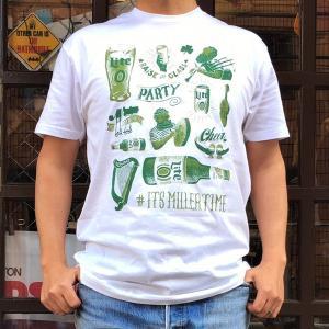 Miller Beer NEXT LEVEL APPAREL Tシャツ Lサイズ  半袖 ロゴTシャツ アメカジ Lite BEER ミラービール ネクストレベル アパレル|buddy-us-clothing