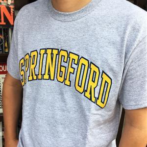 アメカジ BUDDY オリジナル SPRINGFORD ロゴTシャツ GILDAN USA アメリカ メンズ 半袖 プリントTシャツ クルーネック ロゴT ヘザーグレー|buddy-us-clothing