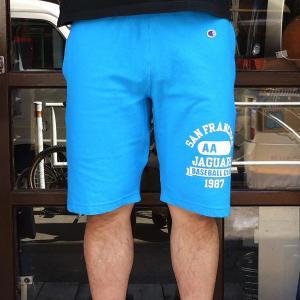 チャンピオン スエットパンツ リバースウィーブショートパンツ Champion JAGUARS BUDDY 別注 ハーフパンツ ショートパンツ 短パン ショーツ|buddy-us-clothing