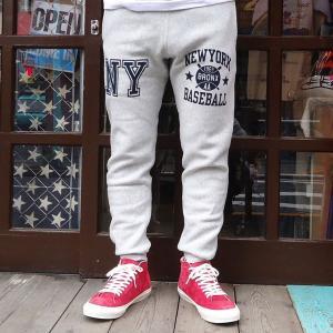 別注 チャンピオン スエットパンツ 細身 Champion BUDDY別注 リバースウィーブ スウェット タイトフィット NEW YORK タイトシルエット C3-E205 11.5oz アメカジ|buddy-us-clothing