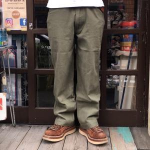 ワークパンツ ミリタリーパンツ バディ SPRINGFORD BUDDY オリジナル ヘリンボーン パンツ  オリーブグリーン 薄手 メンズ アメカジ|buddy-us-clothing
